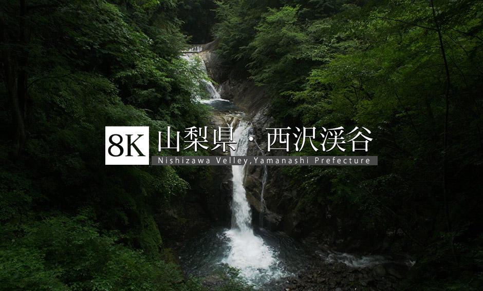 山梨県 西沢渓谷_8K