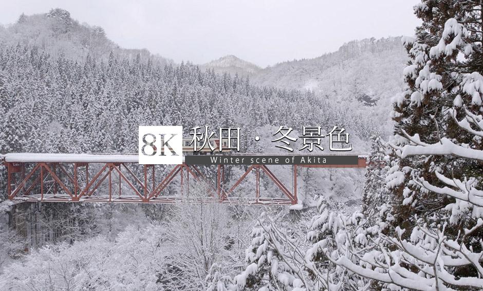 秋田県 雪景色_8K