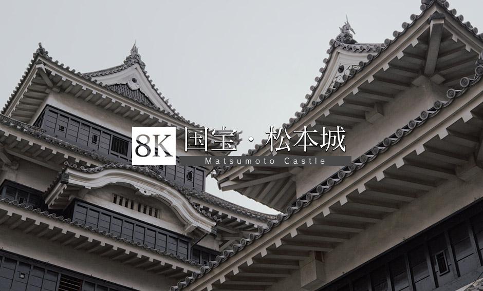 秀麗な黒と白のハーモニー・松本城_8K