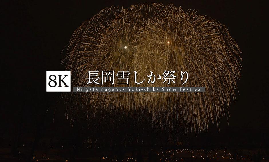夜空を彩る_長岡雪しか祭り_8K