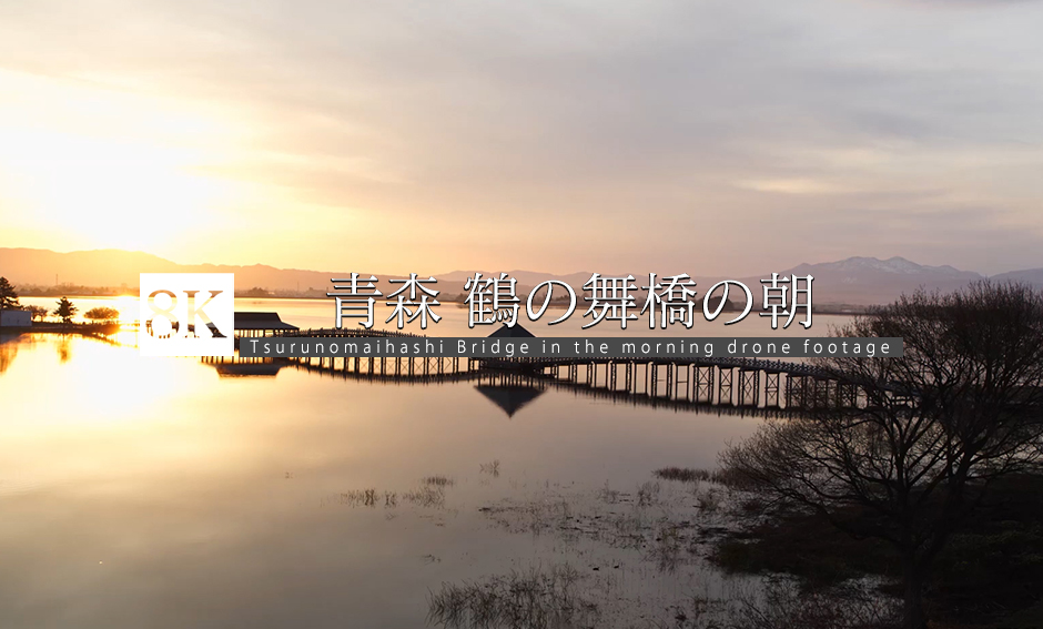 DRONE_青森・鶴の舞橋の朝_8K