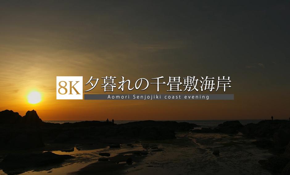 異世界の海岸線、青森・千畳敷海岸_8K