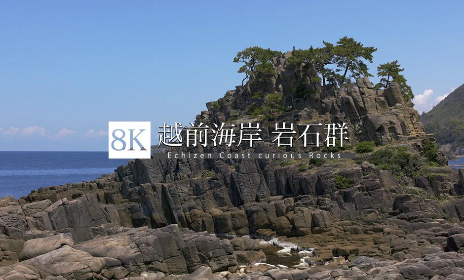 福井 越前海岸 岩石群_8K