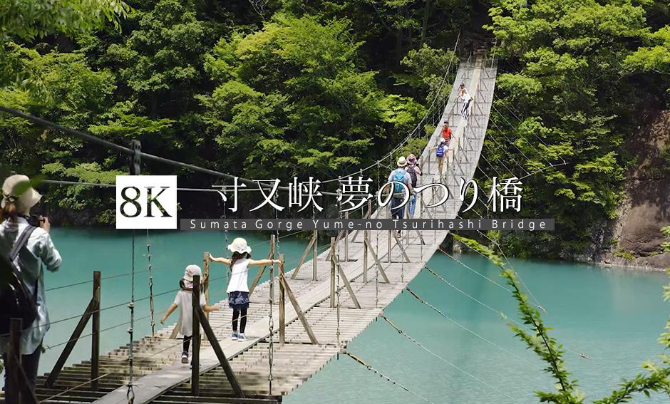 静岡 寸又峡 夢のつり橋_8K