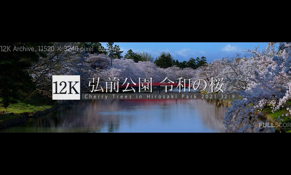 弘前公園 令和の桜_12K WIDE 32:9