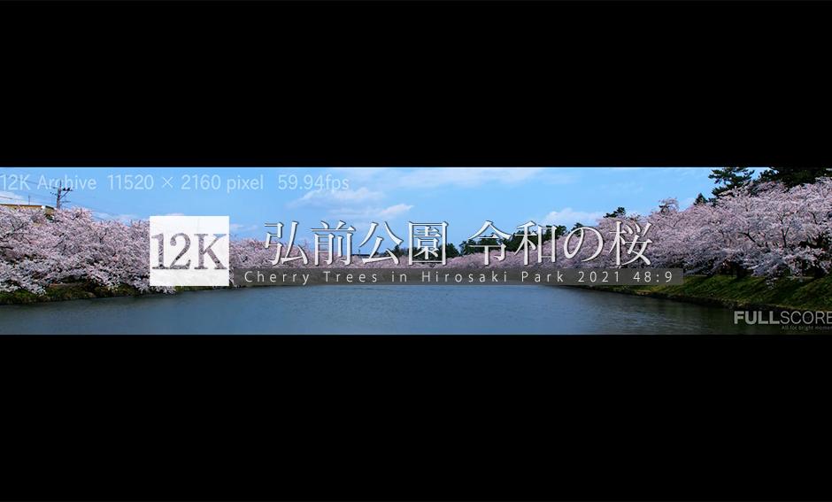 弘前公園 令和の桜_12K WIDE 48:9