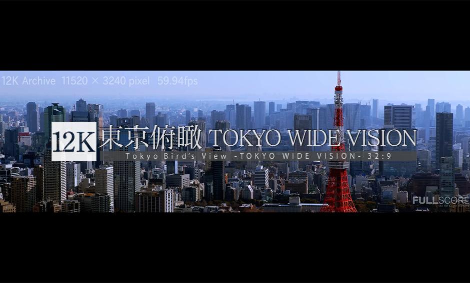 東京俯瞰 -TOKYO Wide Vision Vol.2- 12K WIDE 32:9