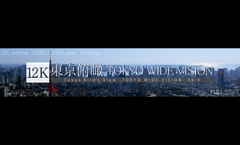 東京俯瞰 -TOKYO Wide Vision Vol.2- 12K WIDE 48:9