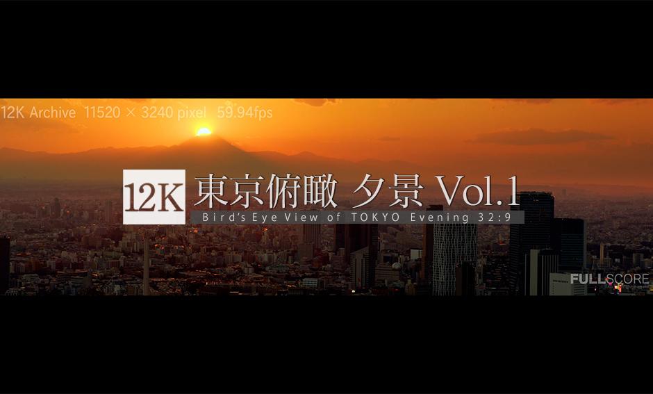 東京俯瞰_夕景 No.1 -TOKYO Wide Vision Vol.3- 12K WIDE 32:9