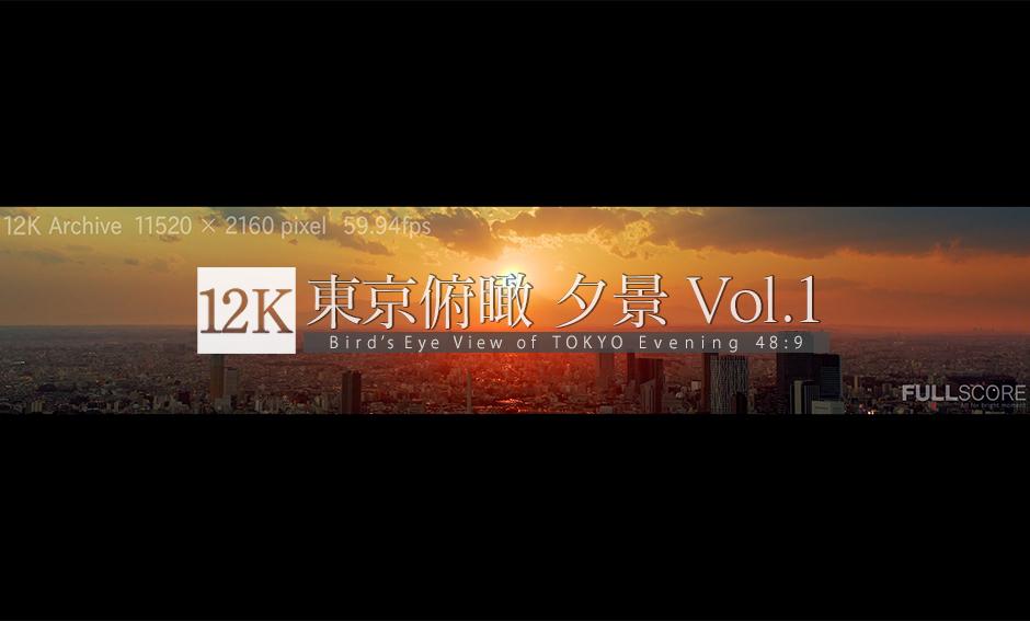 東京俯瞰_夕景 No.1 -TOKYO Wide Vision Vol.3- 12K WIDE 48:9