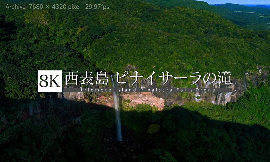 西表島 ピナイサーラの滝_8K